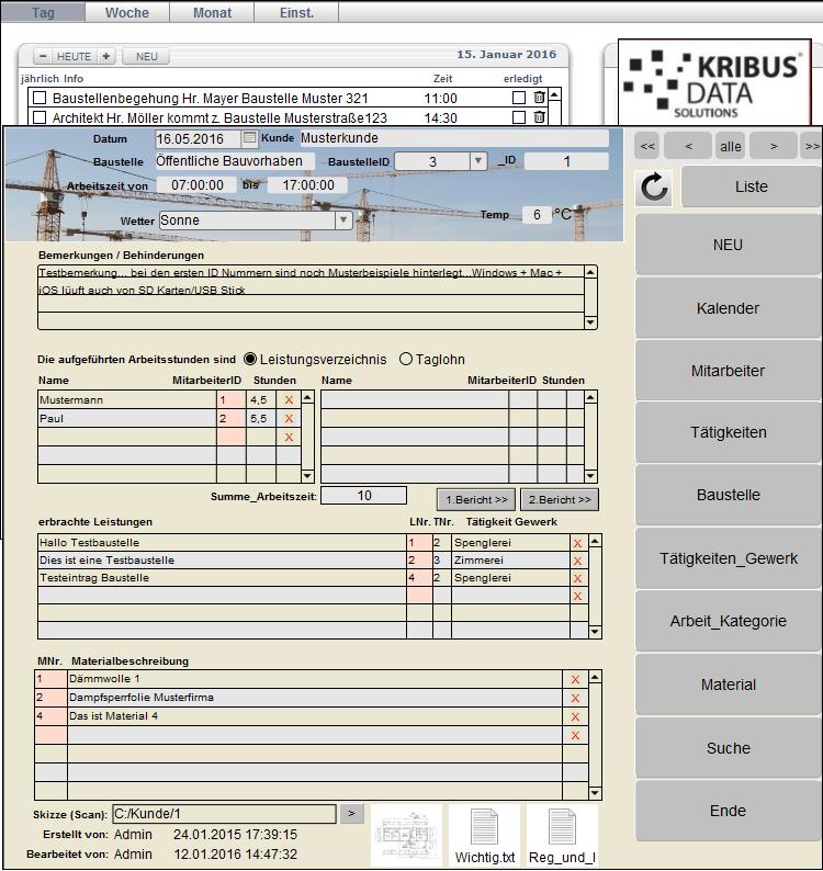 Baudienstleistungen Baustellen Bauarbeiten Bautagebucher Software Bauunternehmen Neubau Hausbau Altbau Architekten Bauarbeiter Rohbau Bauabnahme